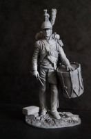 French Dragoon Drummer (Les Dragoons De La Ligne) 90mm